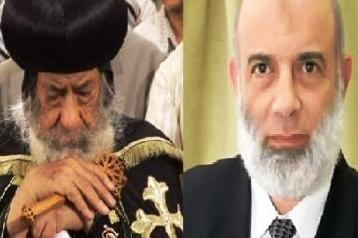 Pope Shenouda and Wagdi Ghoneim