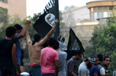 Black Flag of Islam flies over Egypt