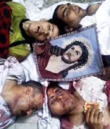 Christians massacred and mangled by the Egyptian military