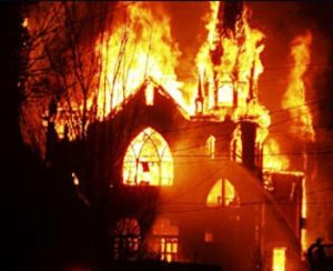 Video: Coptic Church Set Aflame by Muslim Brotherhood Supporters