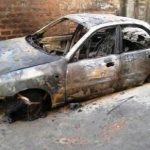 Coptic Christian Priest's Car Set Aflame