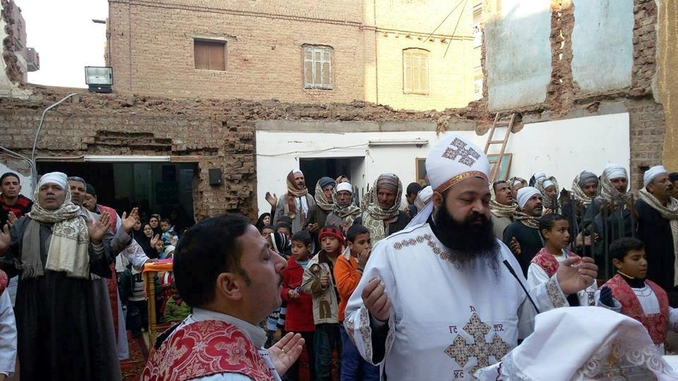 The Christians of Nag Shenouda celebrated Easter 2015 in the street after local Muslims rioted and burned down their temporary worship tent, and attacked their religious service at a home.